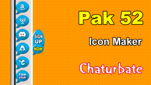 Pak 52 – FREE Chaturbate Social Media Button and Icon Maker