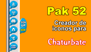Pak 52 – Generador de iconos y botones de redes sociales para Chaturbate