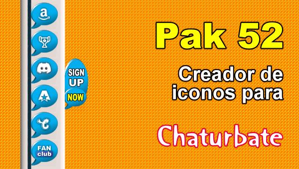 Pak 52 - Generador de iconos y botones de redes sociales para Chaturbate