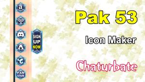 Pak 53 – FREE Chaturbate Social Media Button and Icon Maker