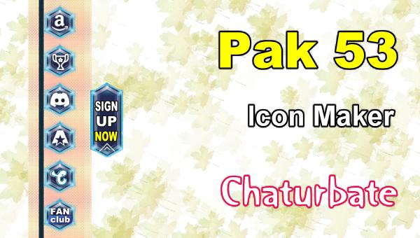 Pak 53 - FREE Chaturbate Social Media Button and Icon Maker