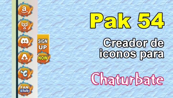 Pak 54 - Generador de iconos y botones de redes sociales para Chaturbate