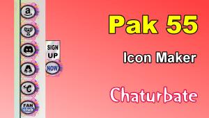 Pak 55 – FREE Chaturbate Social Media Button and Icon Maker