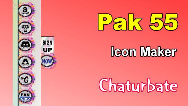 Pak 55 - FREE Chaturbate Social Media Button and Icon Maker