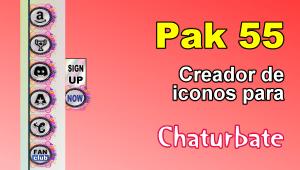 Pak 55 – Generador de iconos y botones de redes sociales para Chaturbate
