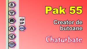 Pak 55 – Generator de butoane și pictograme pentru Chaturbate