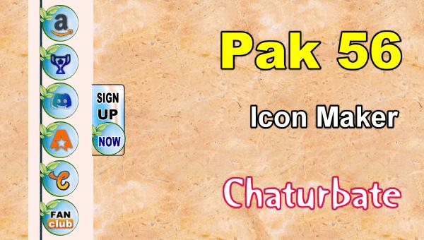 Pak 56 - FREE Chaturbate Social Media Button and Icon Maker