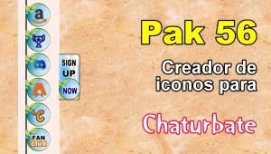 Pak 56 – Generador de iconos y botones de redes sociales para Chaturbate