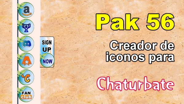 Pak 56 - Generador de iconos y botones de redes sociales para Chaturbate