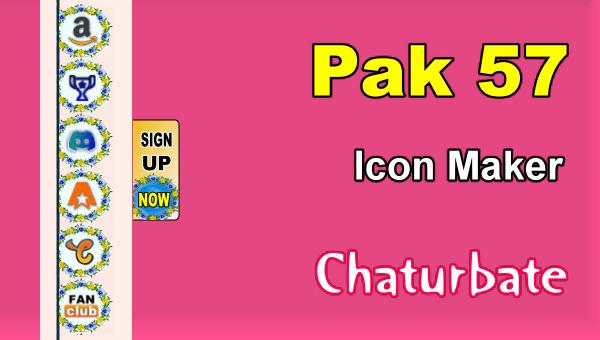 Pak 57 - FREE Chaturbate Social Media Button and Icon Maker