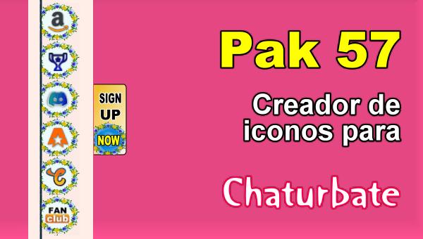 Pak 57 - Generador de iconos y botones de redes sociales para Chaturbate