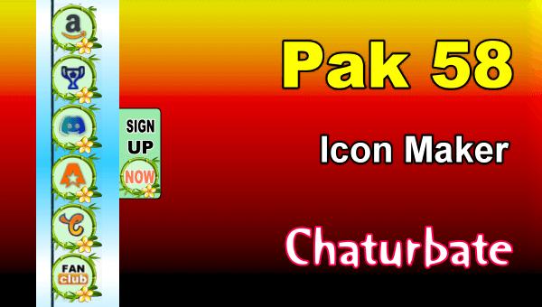 Pak 58 - FREE Chaturbate Social Media Button and Icon Maker