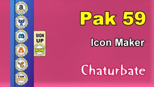 Pak 59 – FREE Chaturbate Social Media Button and Icon Maker