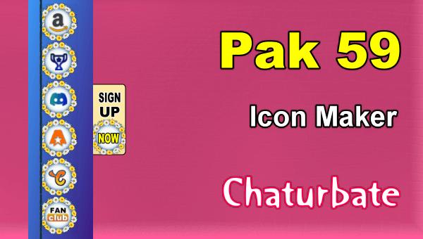Pak 59 - FREE Chaturbate Social Media Button and Icon Maker