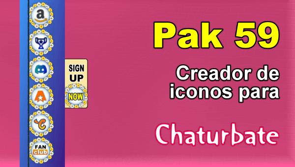 Pak 59 - Generador de iconos y botones de redes sociales para Chaturbate