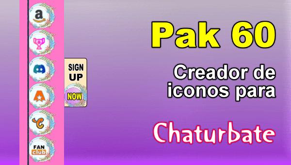 Pak 60 - Generador de iconos y botones de redes sociales para Chaturbate
