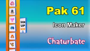 Pak 61 – FREE Chaturbate Social Media Button and Icon Maker