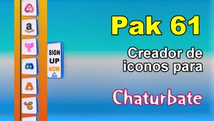 Pak 61 – Generador de iconos y botones de redes sociales para Chaturbate