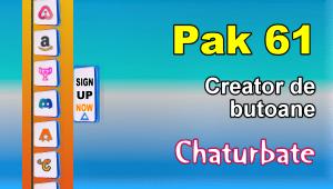 Pak 61 – Generator de butoane și pictograme pentru Chaturbate