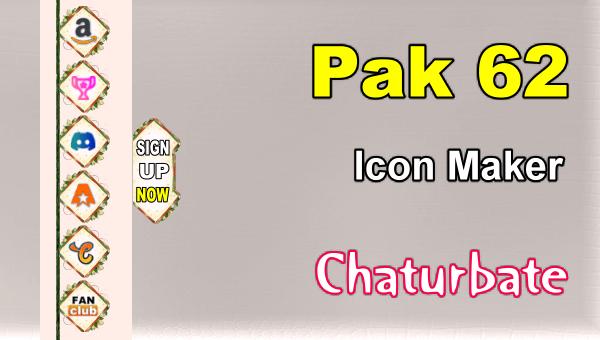 Pak 62 - FREE Chaturbate Social Media Button and Icon Maker
