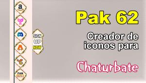 Pak 62 – Generador de iconos y botones de redes sociales para Chaturbate