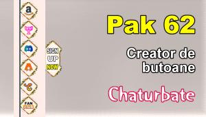 Pak 62 – Generator de butoane și pictograme pentru Chaturbate