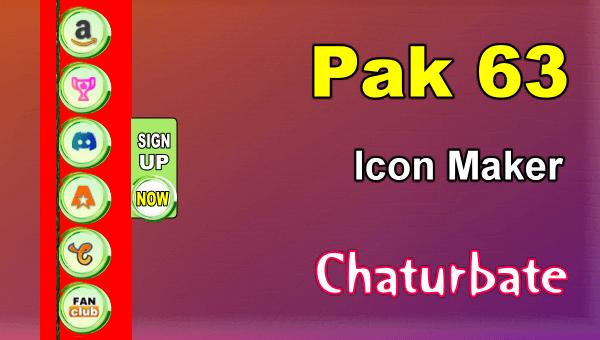 Pak 63 - FREE Chaturbate Social Media Button and Icon Maker