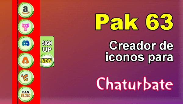 Pak 63 - Generador de iconos y botones de redes sociales para Chaturbate