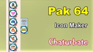 Pak 64 – FREE Chaturbate Social Media Button and Icon Maker
