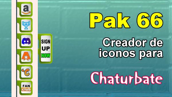 Pak 66 - Generador de iconos y botones de redes sociales para Chaturbate