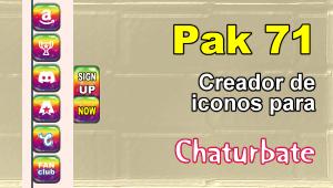 Pak 71 – Generador de iconos y botones de redes sociales para Chaturbate