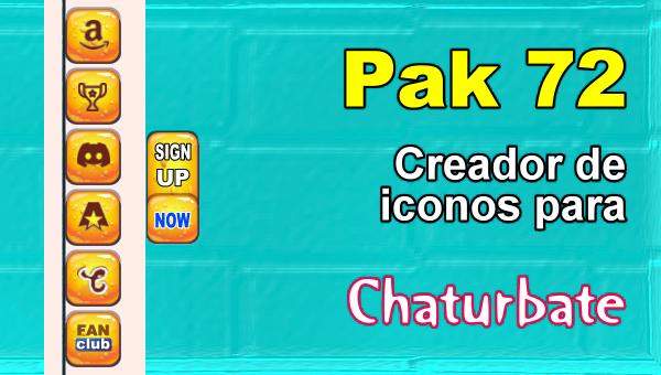 Pak 72 - Generador de iconos y botones de redes sociales para Chaturbate