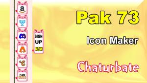 Pak 73 – FREE Chaturbate Social Media Button and Icon Maker