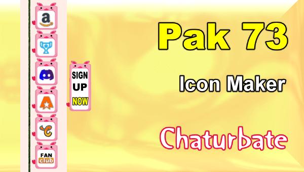 Pak 73 - FREE Chaturbate Social Media Button and Icon Maker