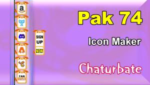 Pak 74 – FREE Chaturbate Social Media Button and Icon Maker