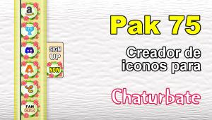 Pak 75 – Generador de iconos y botones de redes sociales para Chaturbate