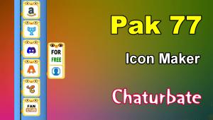 Pak 77 – FREE Chaturbate Social Media Button and Icon Maker