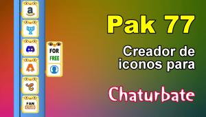 Pak 77 – Generador de iconos y botones de redes sociales para Chaturbate