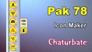 Pak 78 – FREE Chaturbate Social Media Button and Icon Maker