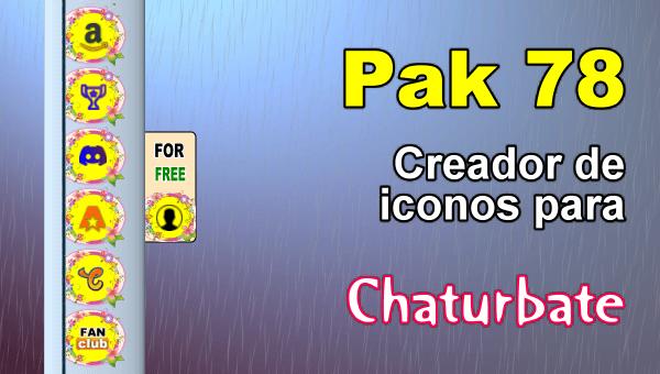 Pak 78 - Generador de iconos y botones de redes sociales para Chaturbate