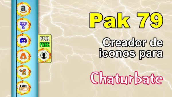Pak 79 - Generador de iconos y botones de redes sociales para Chaturbate