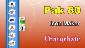 Pak 80 – FREE Chaturbate Social Media Button and Icon Maker