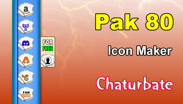 Pak 80 - FREE Chaturbate Social Media Button and Icon Maker