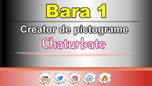 Bara 1 – Generator de pictograme social media pentru Chaturbate