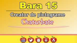 Bara 15 – Generator de pictograme social media pentru Chaturbate