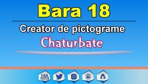 Bara 18 – Generator de pictograme social media pentru Chaturbate