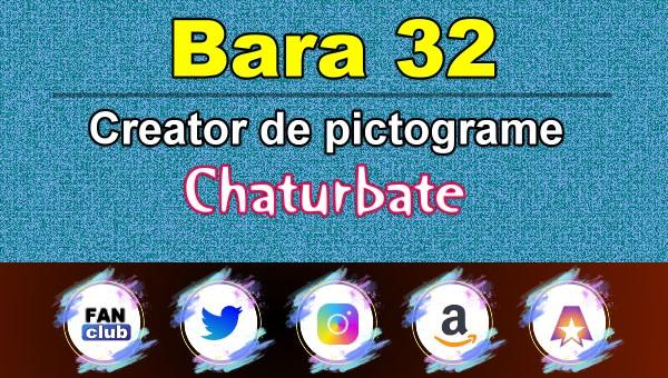 Bara 32 – Generator de pictograme social media pentru Chaturbate