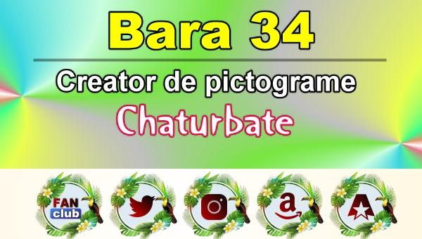 Bara 34 – Generator de pictograme social media pentru Chaturbate