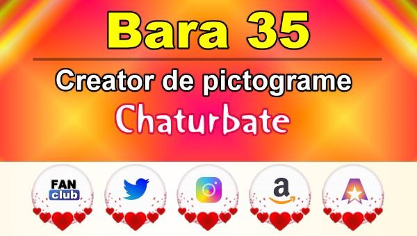 Bara 35 – Generator de pictograme social media pentru Chaturbate
