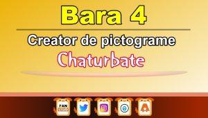 Bara 4 – Generator de pictograme social media pentru Chaturbate
